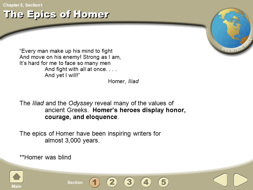 1 The Epics of Homer.