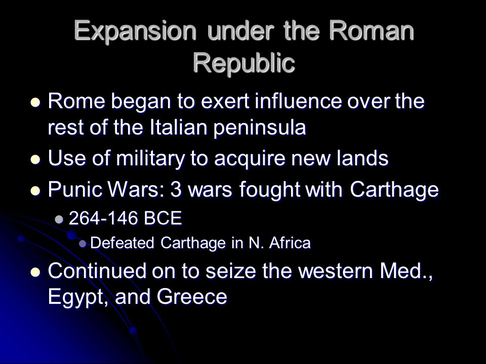 Expansion under the Roman Republic
