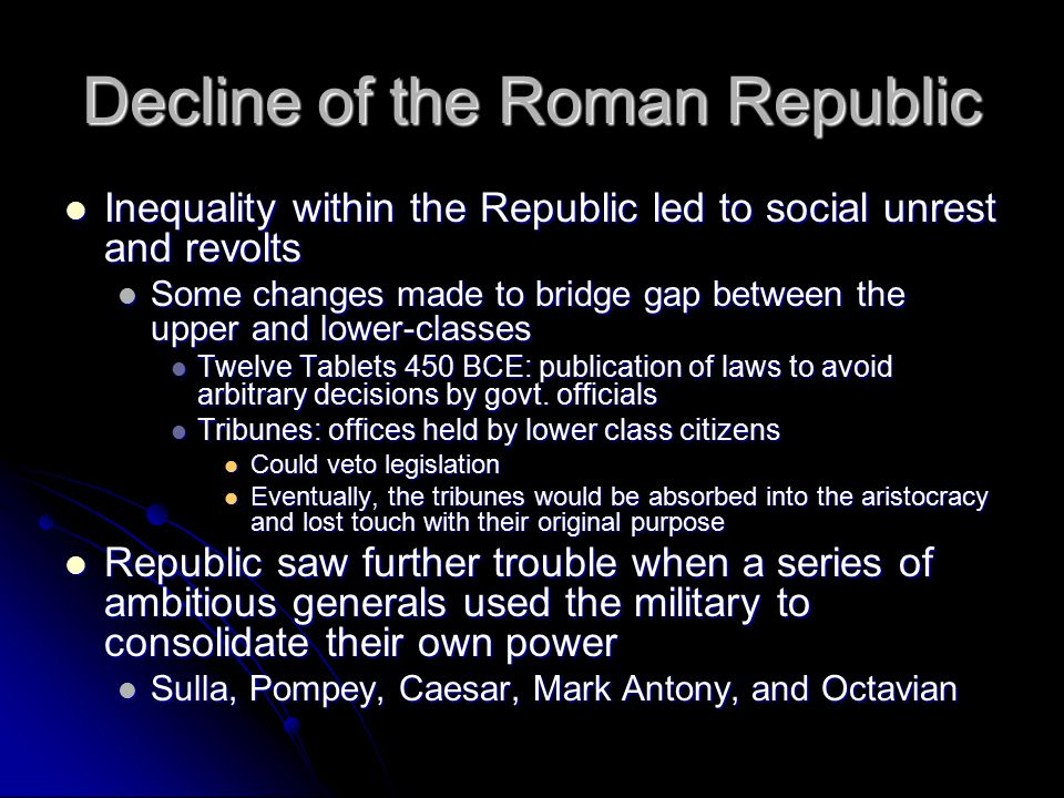 Decline of the Roman Republic