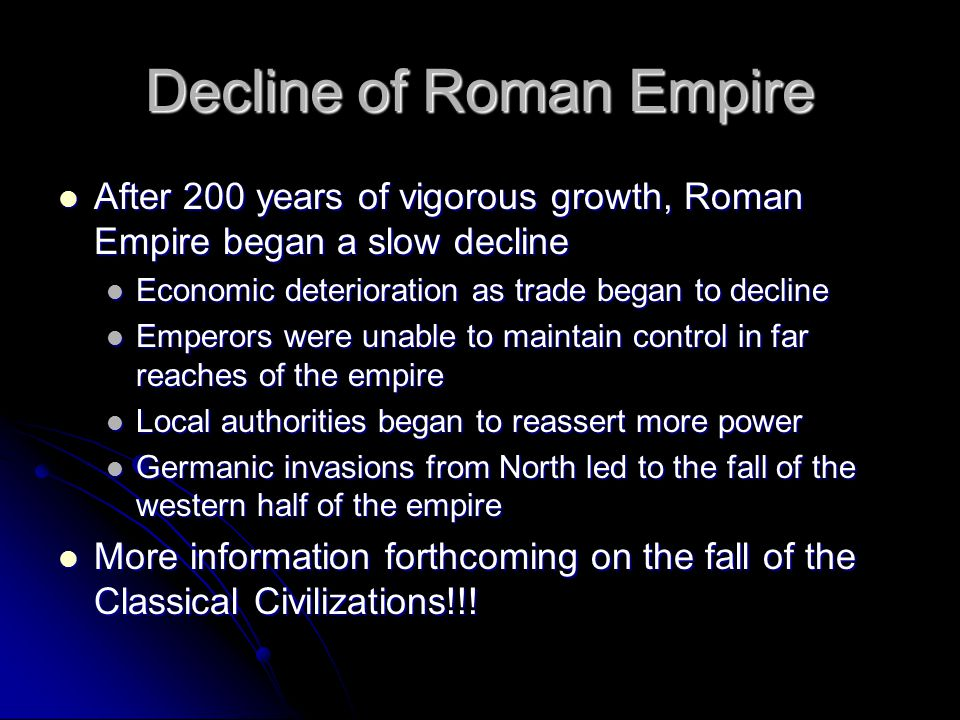 Decline of Roman Empire