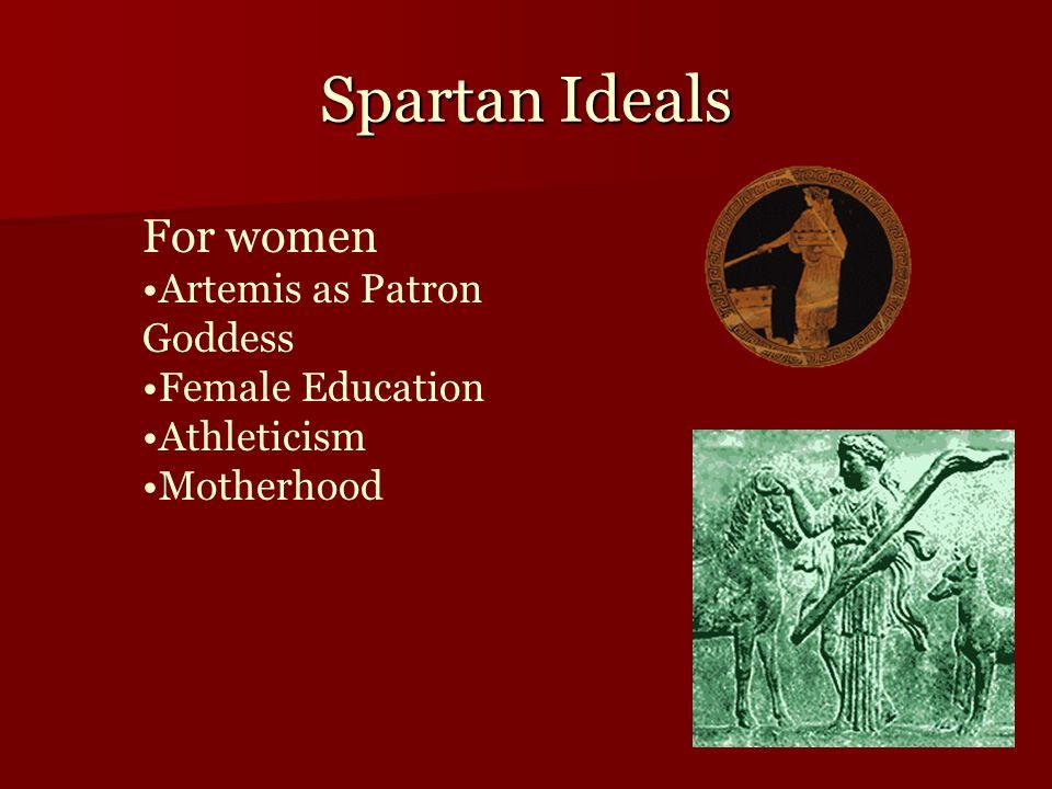 Spartan Ideals For women Artemis as Patron Goddess Female Education