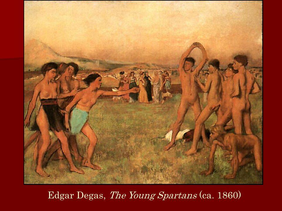 Edgar Degas, The Young Spartans (ca. 1860)