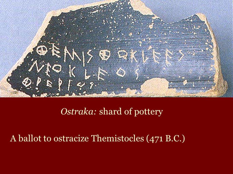 Ostraka: shard of pottery
