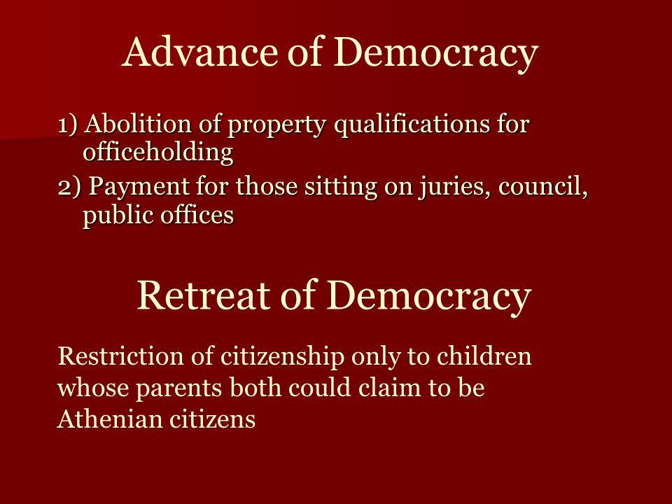 Advance of Democracy Retreat of Democracy