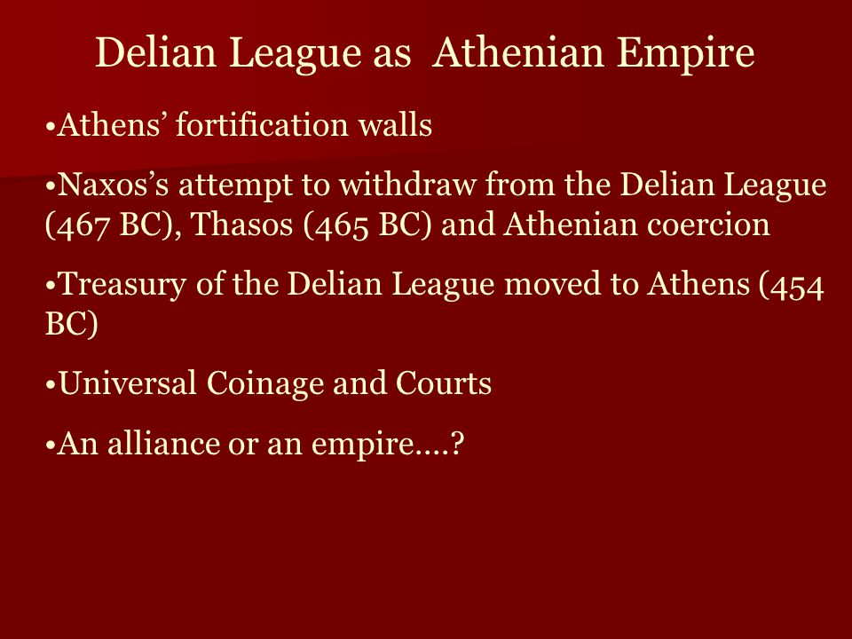 Delian League as Athenian Empire