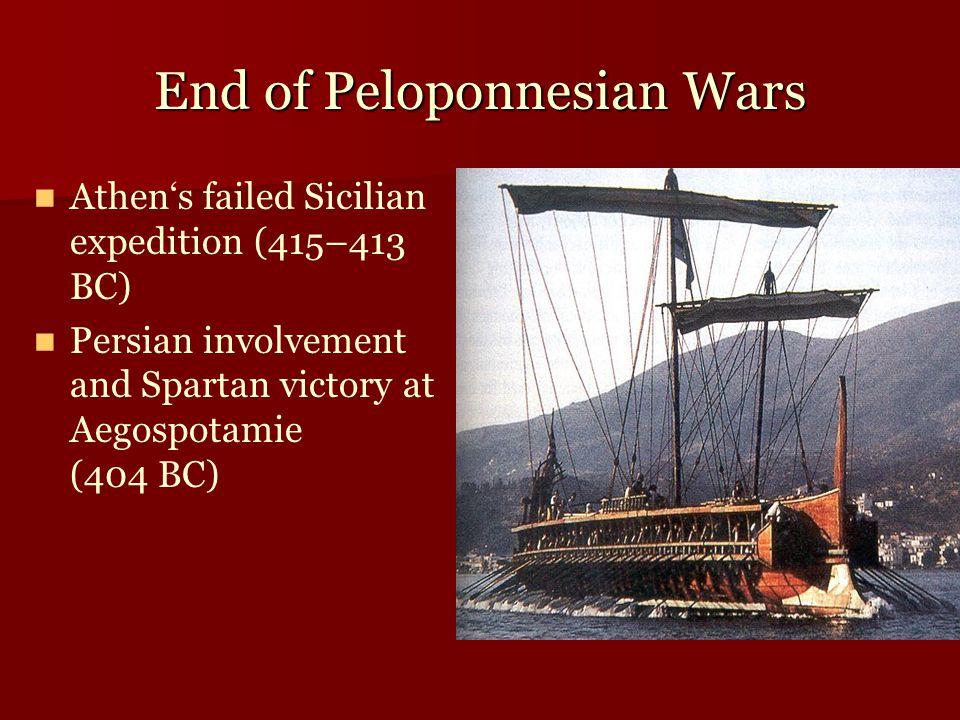 End of Peloponnesian Wars