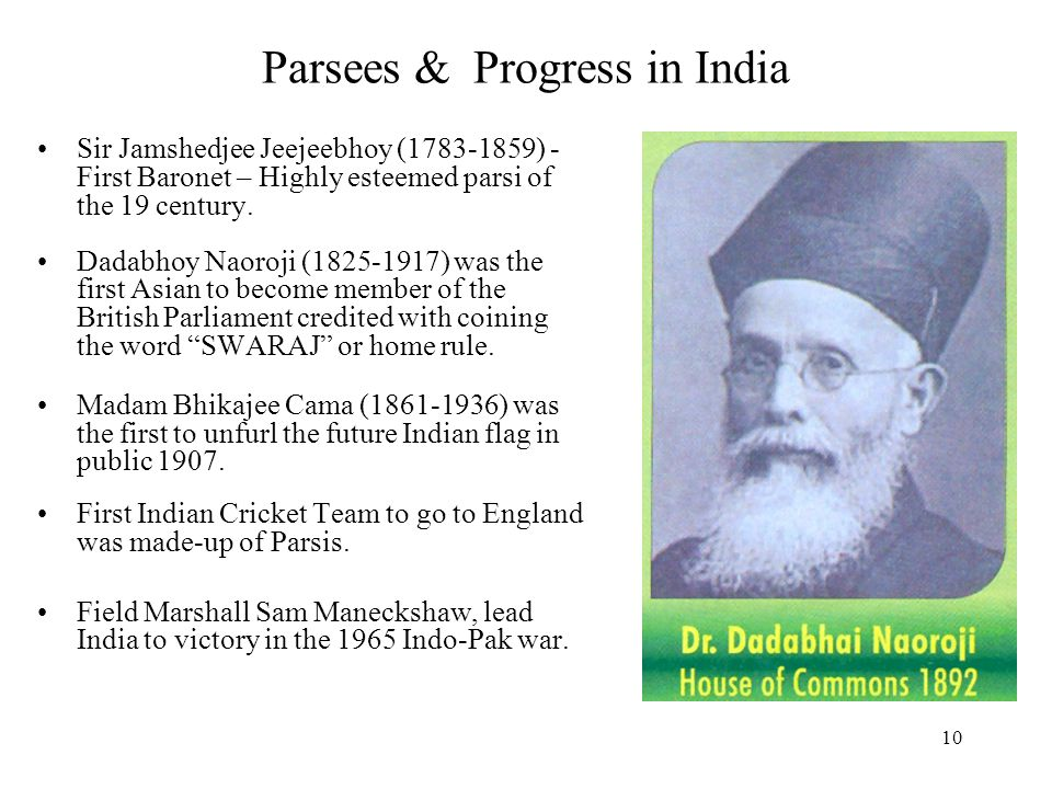 Parsees & Progress in India