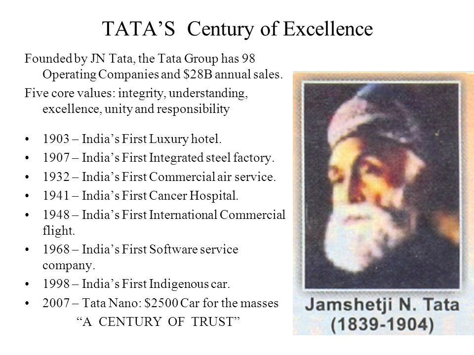 TATA'S Century of Excellence