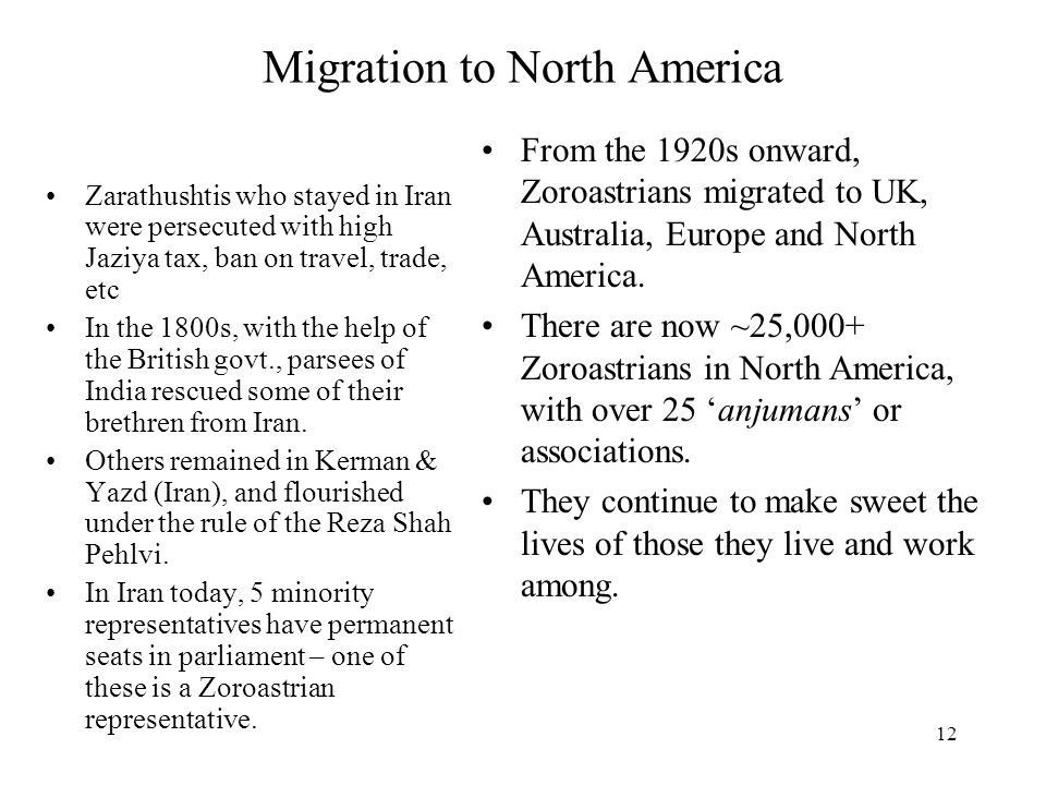Migration to North America