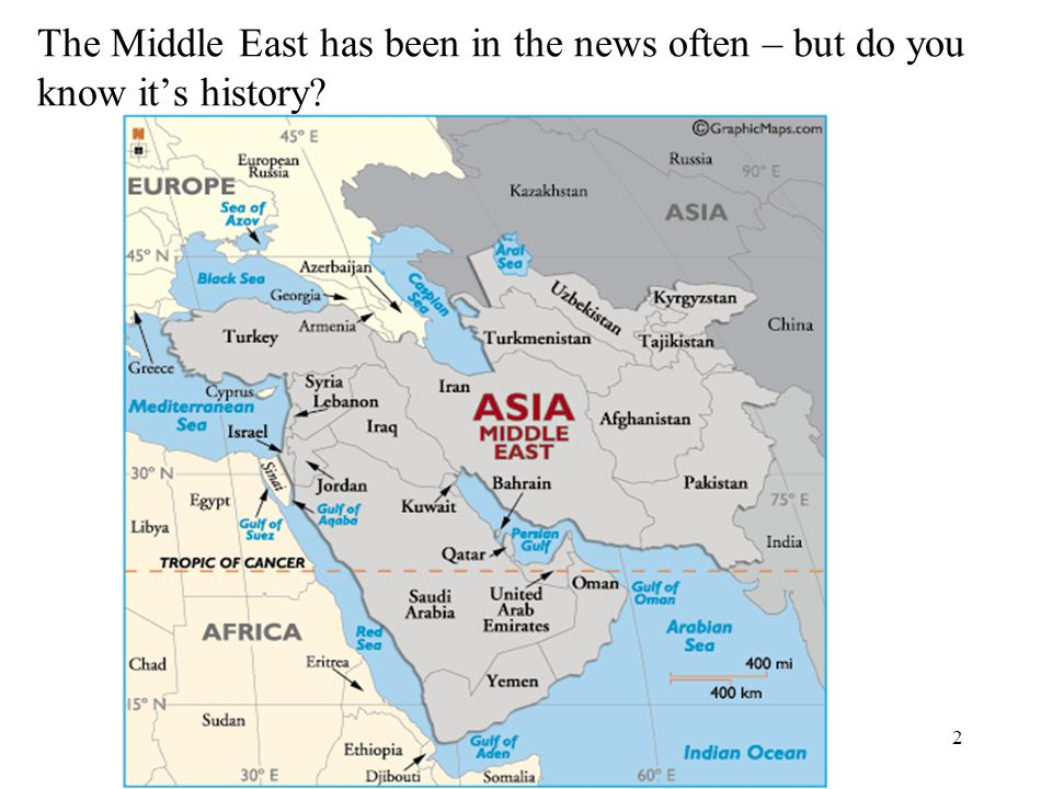 The Middle East has been in the news often – but do you know it's history