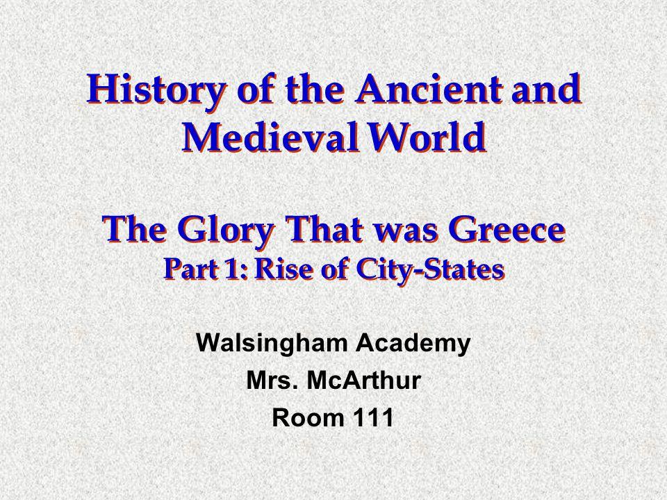Walsingham Academy Mrs. McArthur Room 111