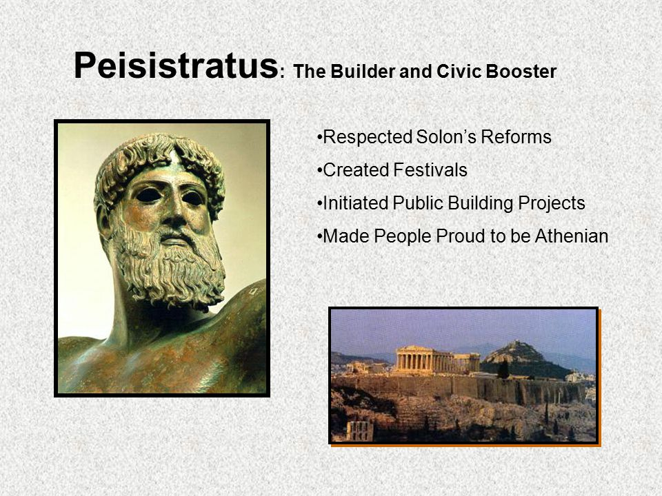 Peisistratus: The Builder and Civic Booster