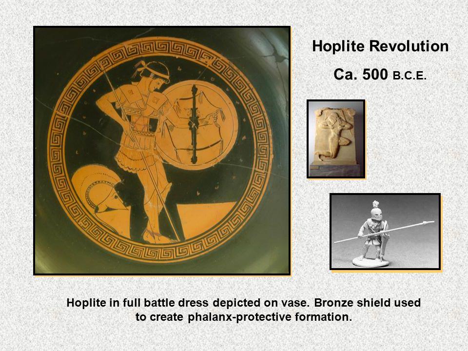 Hoplite Revolution Ca. 500 B.C.E.