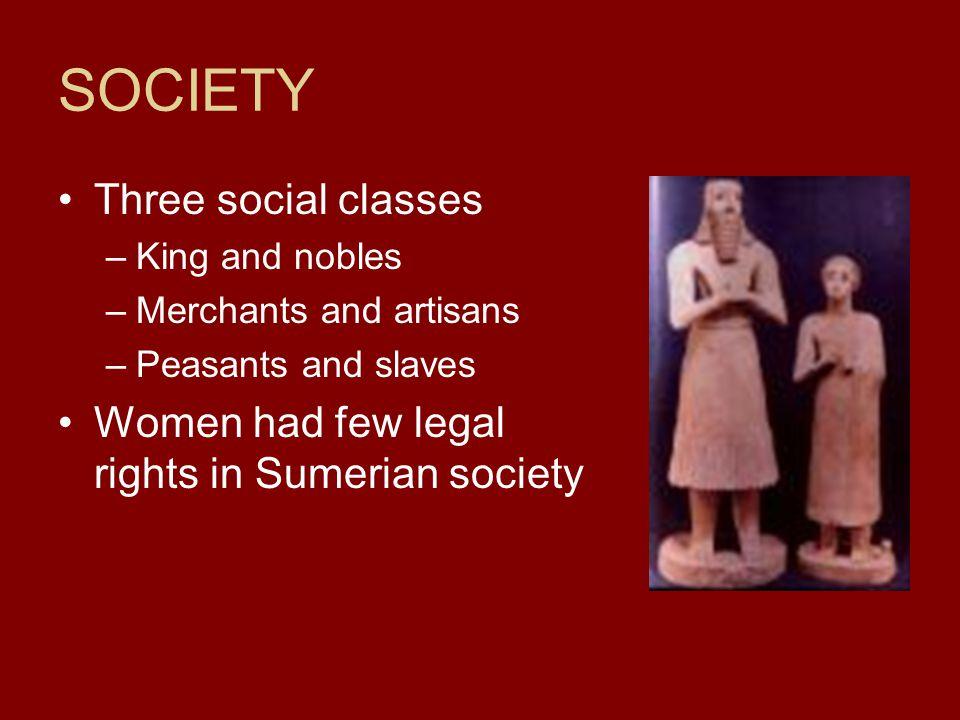 SOCIETY Three social classes