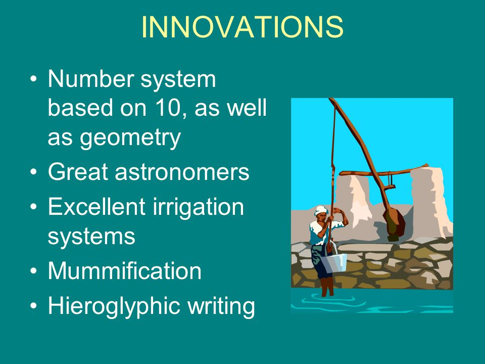 INNOVATIONS Number system based on 10, as well as geometry