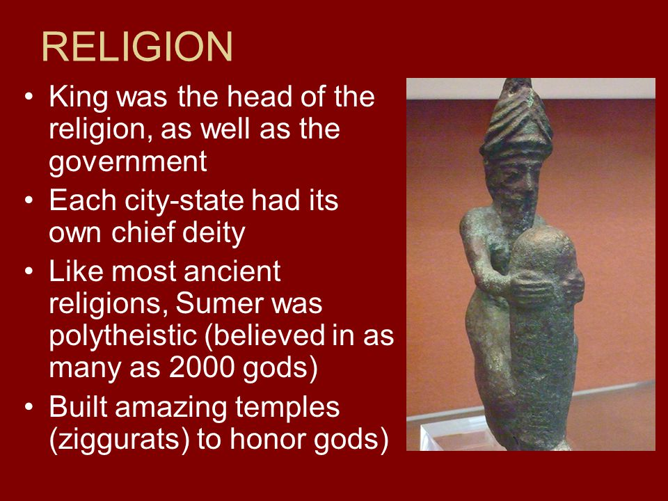 RELIGION King was the head of the religion, as well as the government