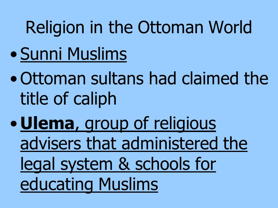 Religion in the Ottoman World