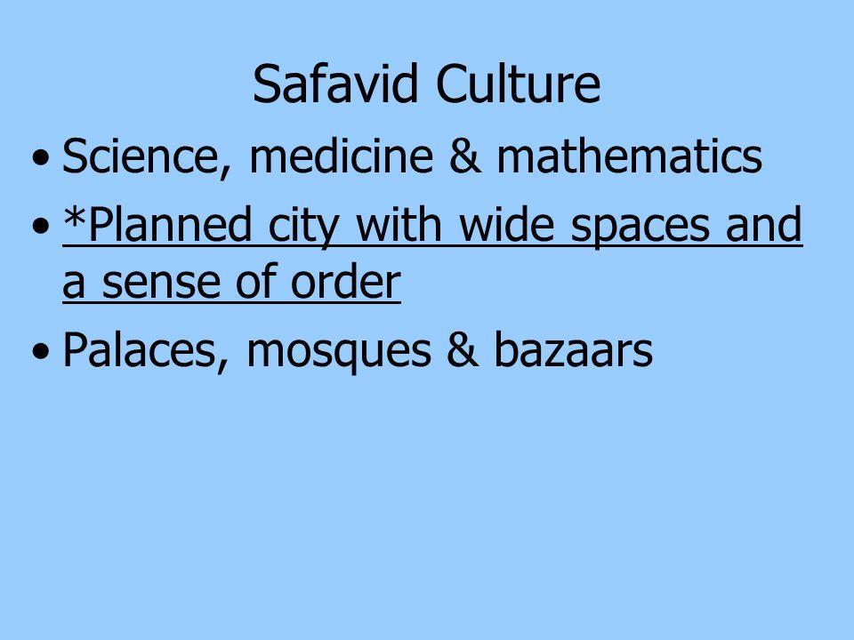Safavid Culture Science, medicine & mathematics