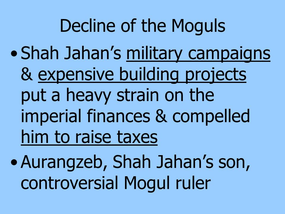 Decline of the Moguls