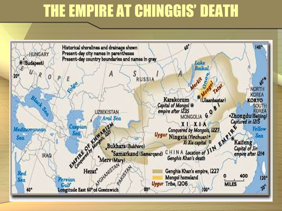 THE EMPIRE AT CHINGGIS' DEATH