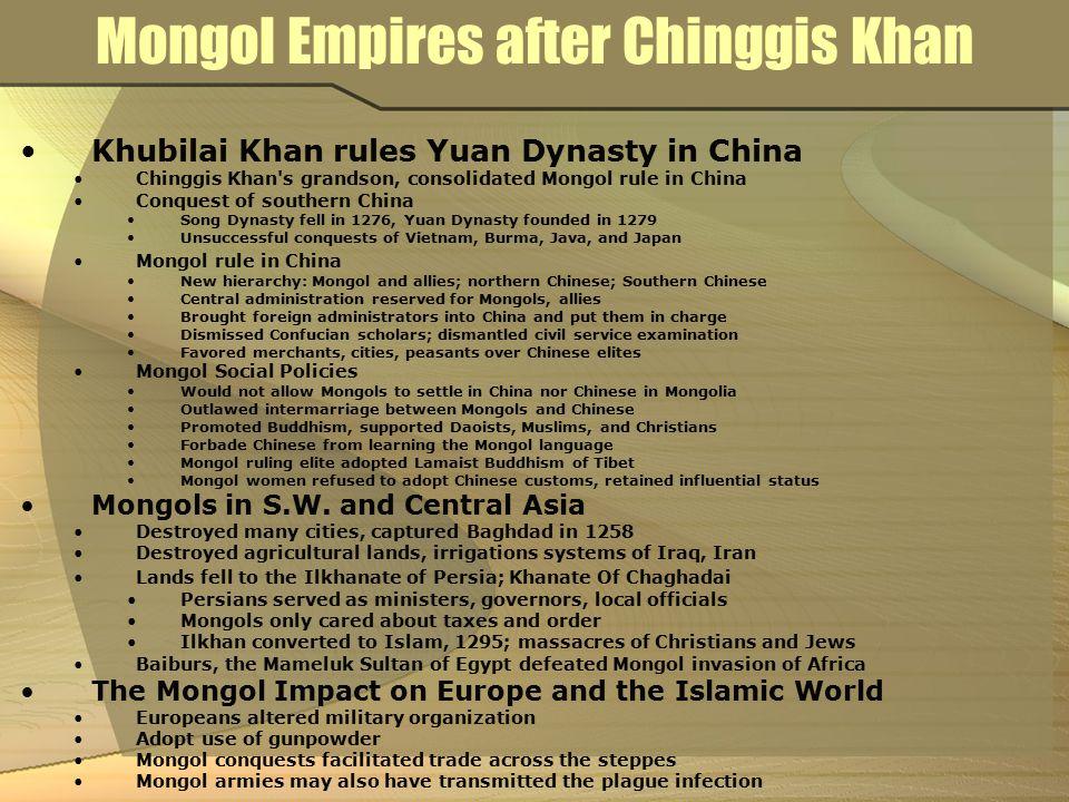 Mongol Empires after Chinggis Khan