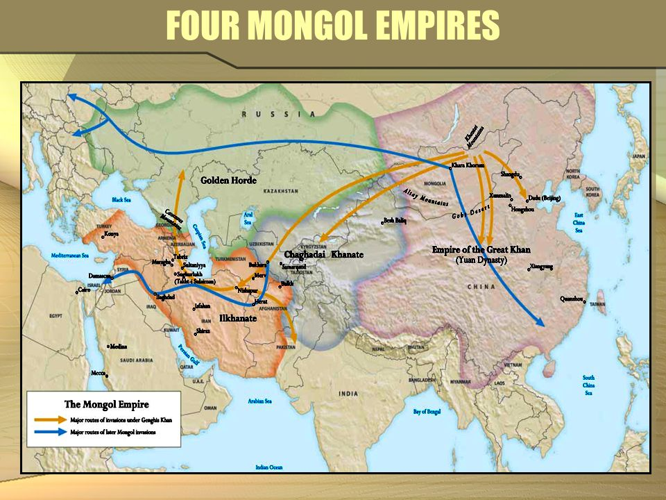 FOUR MONGOL EMPIRES