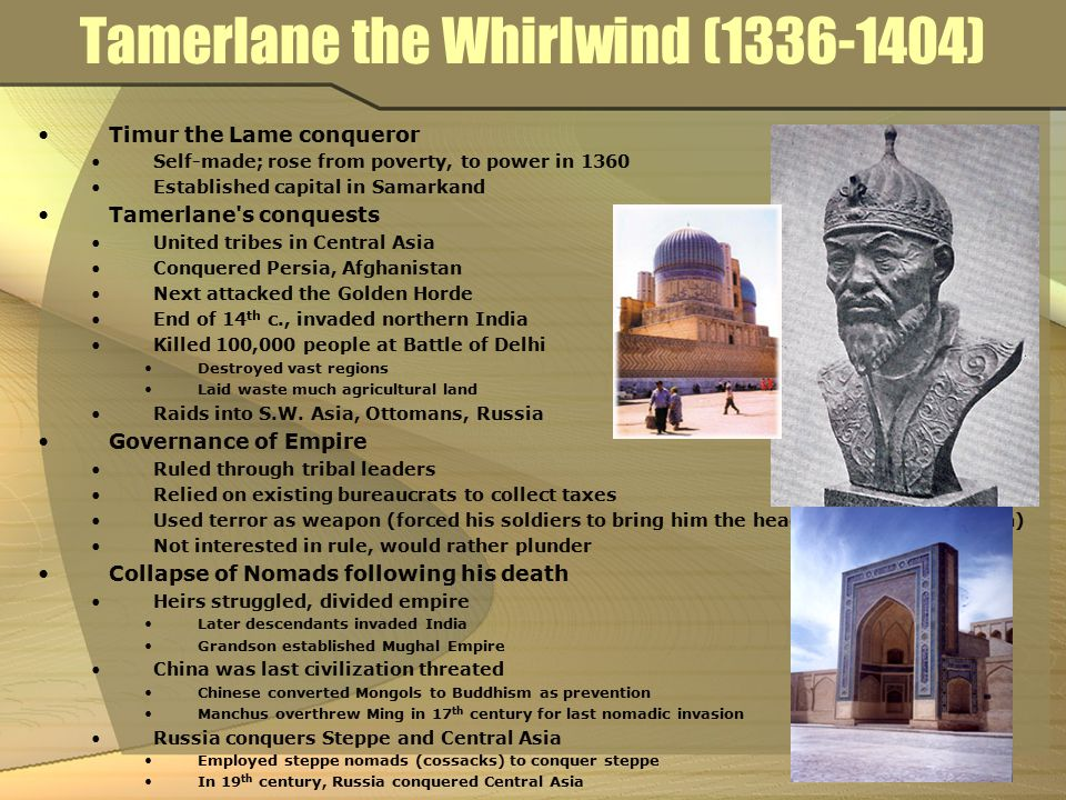 Tamerlane the Whirlwind (1336-1404)