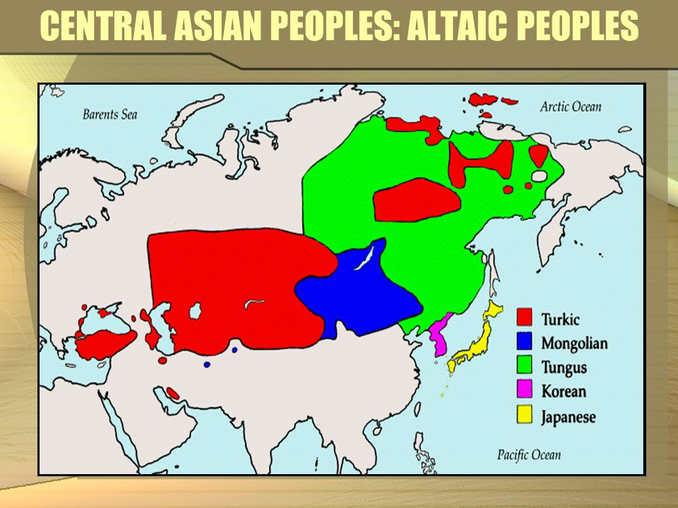 CENTRAL ASIAN PEOPLES: ALTAIC PEOPLES