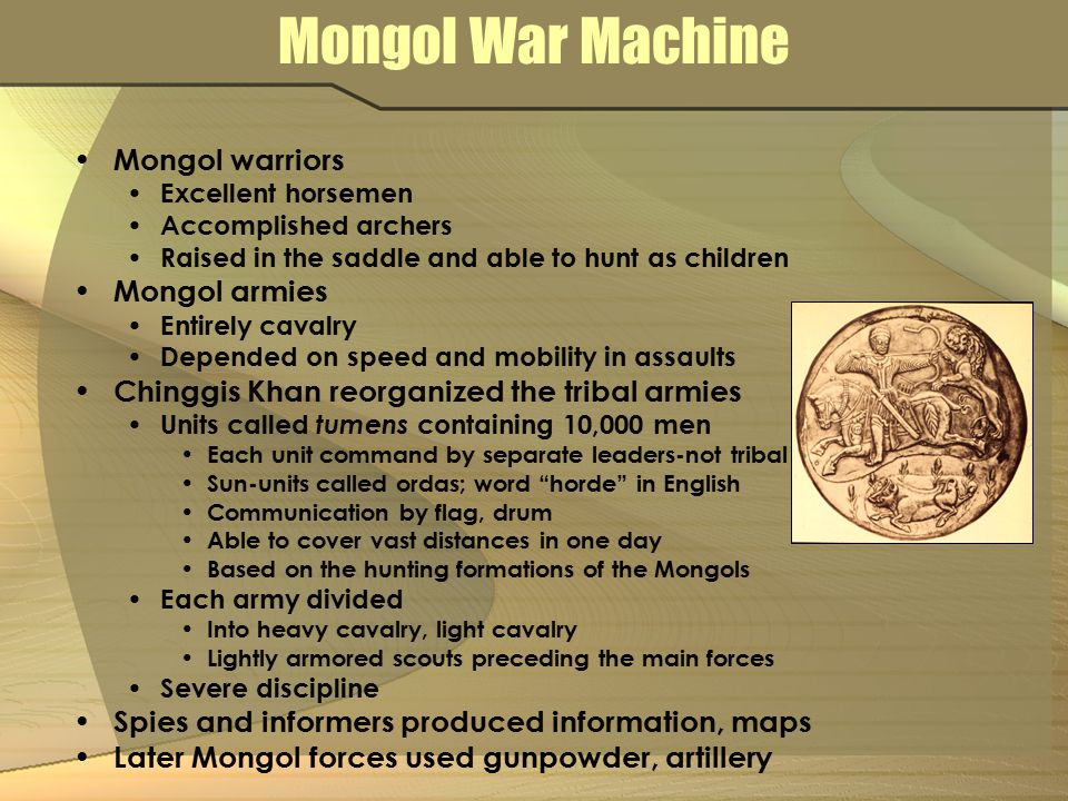 Mongol War Machine Mongol warriors Mongol armies