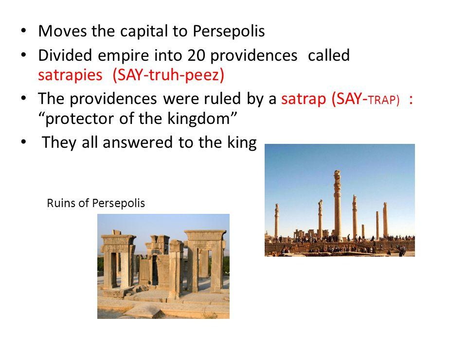 Moves the capital to Persepolis