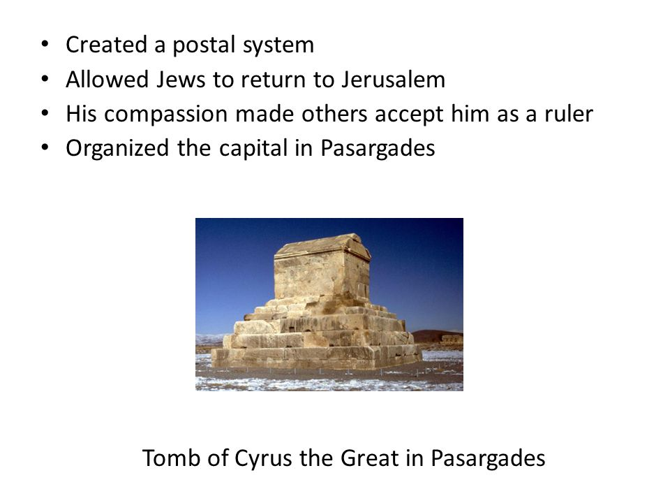 Tomb of Cyrus the Great in Pasargades