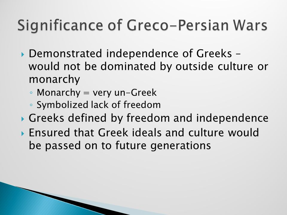 Significance of Greco-Persian Wars