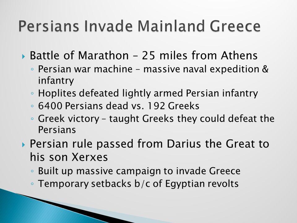 Persians Invade Mainland Greece
