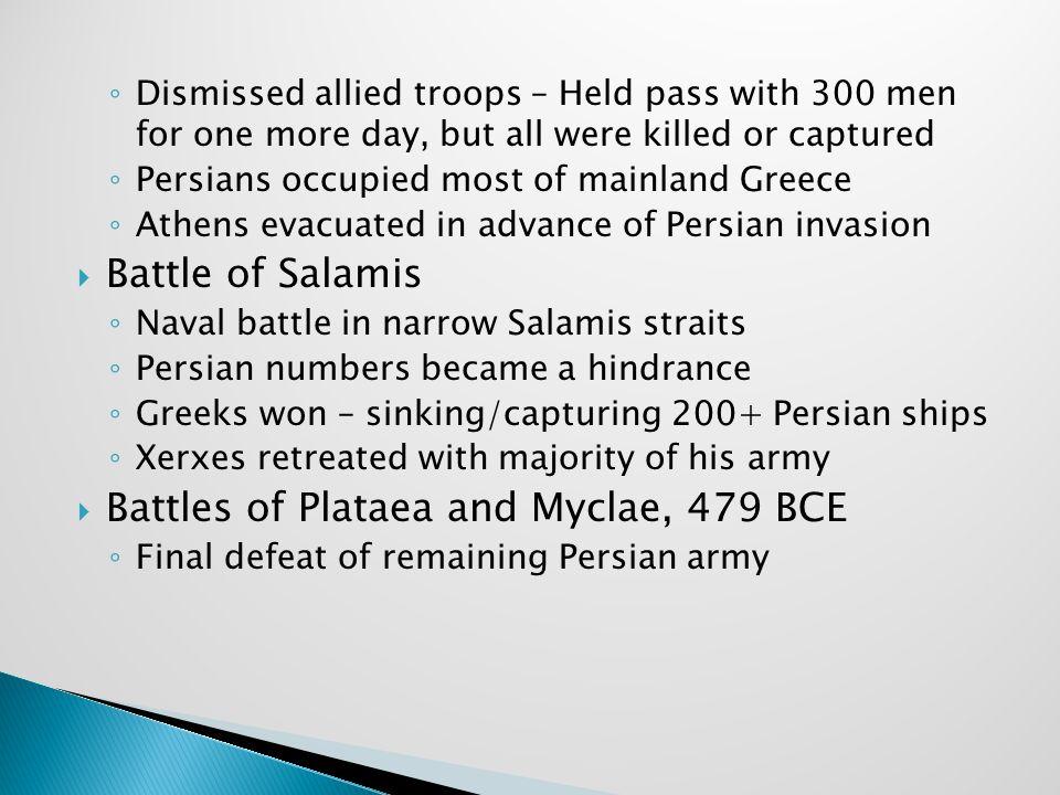 Battles of Plataea and Myclae, 479 BCE