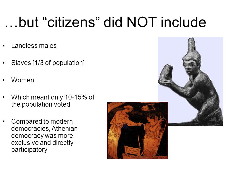 …but citizens did NOT include