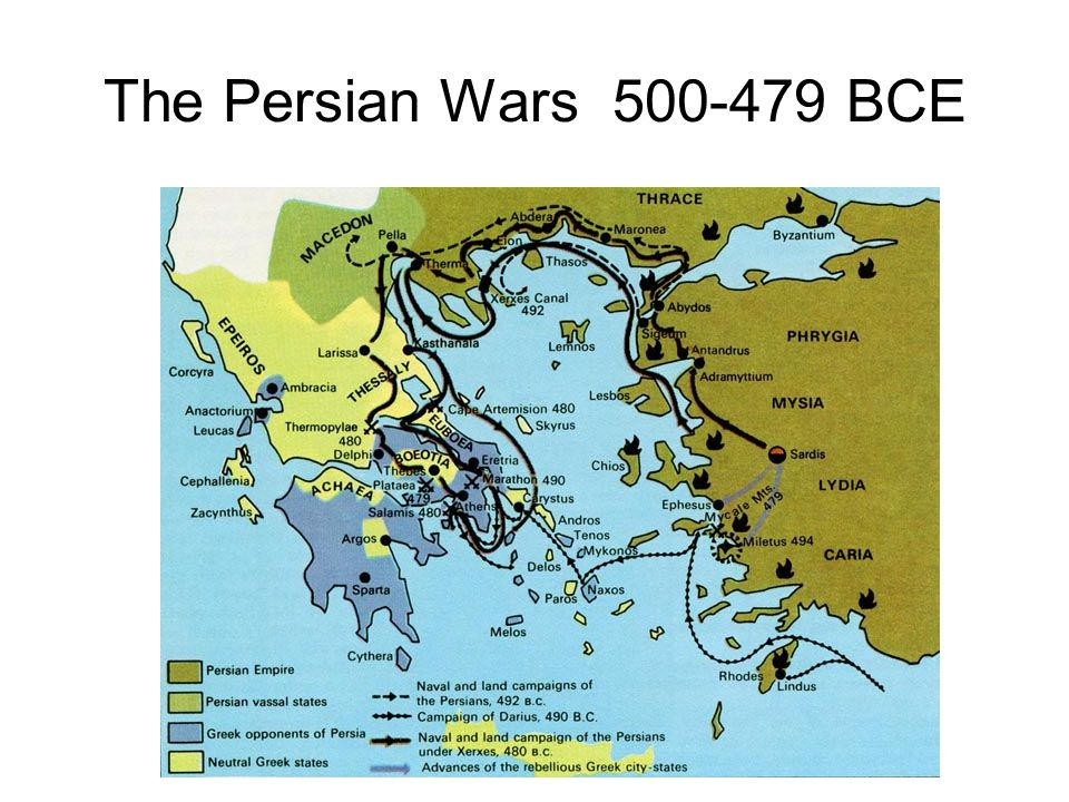 The Persian Wars 500-479 BCE 22