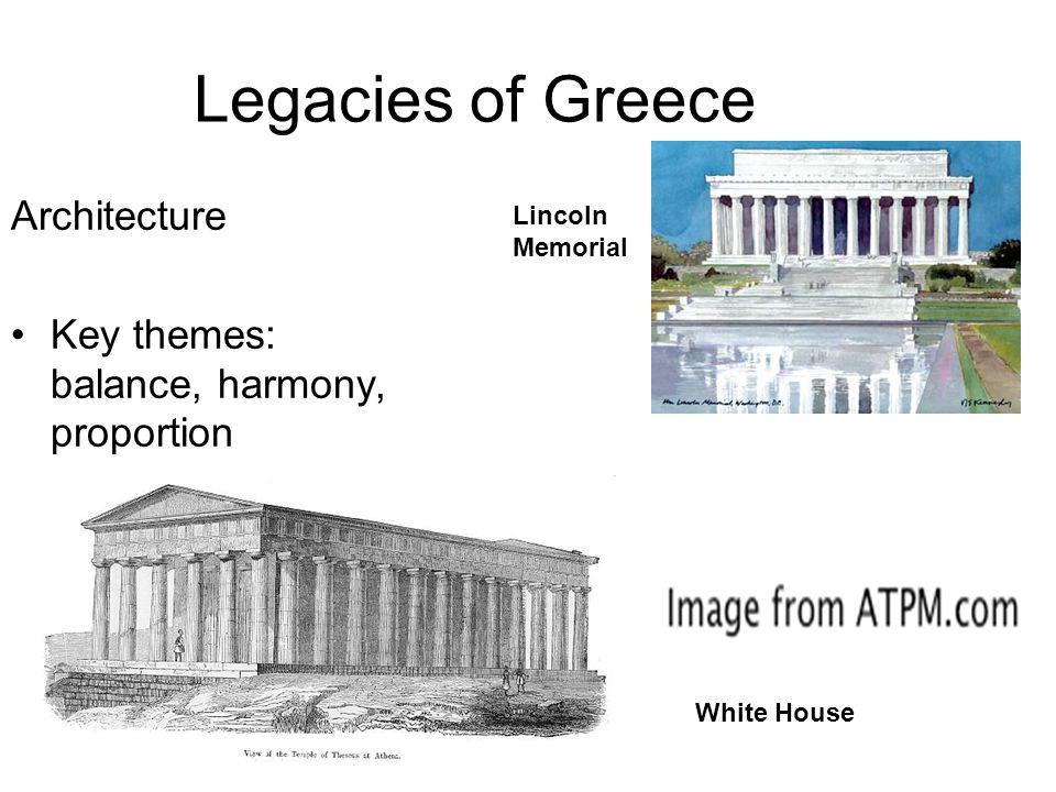 Legacies of Greece Architecture