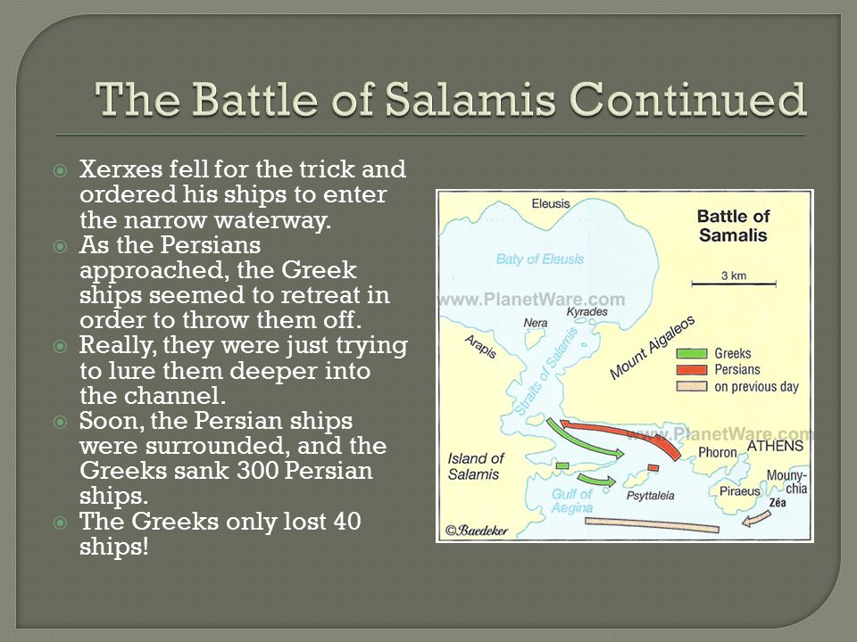 The Battle of Salamis Continued