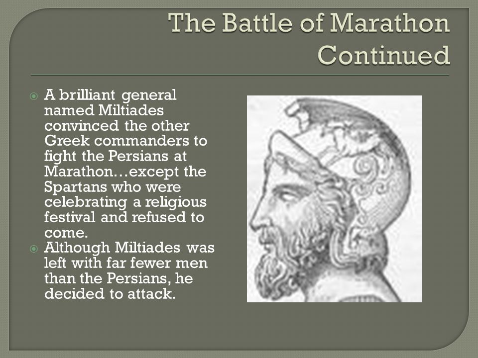 The Battle of Marathon Continued