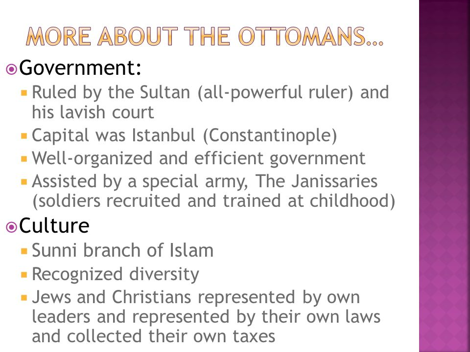More about the ottomans…