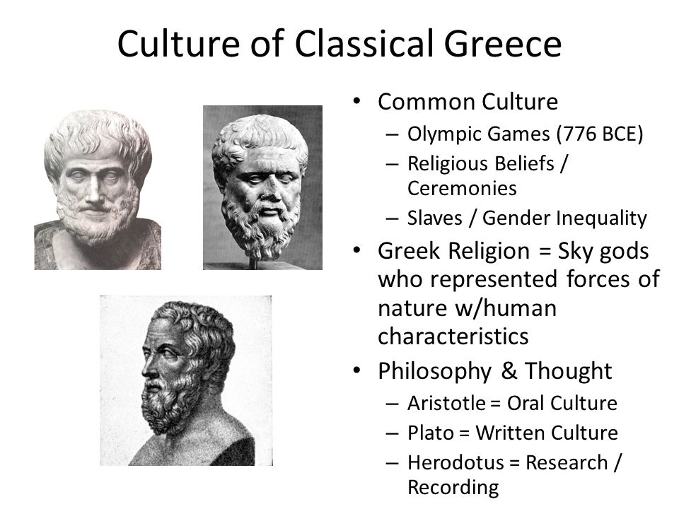 Culture of Classical Greece