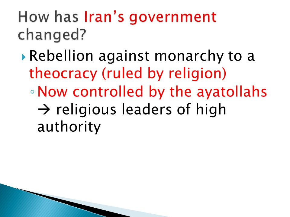 How has Iran's government changed