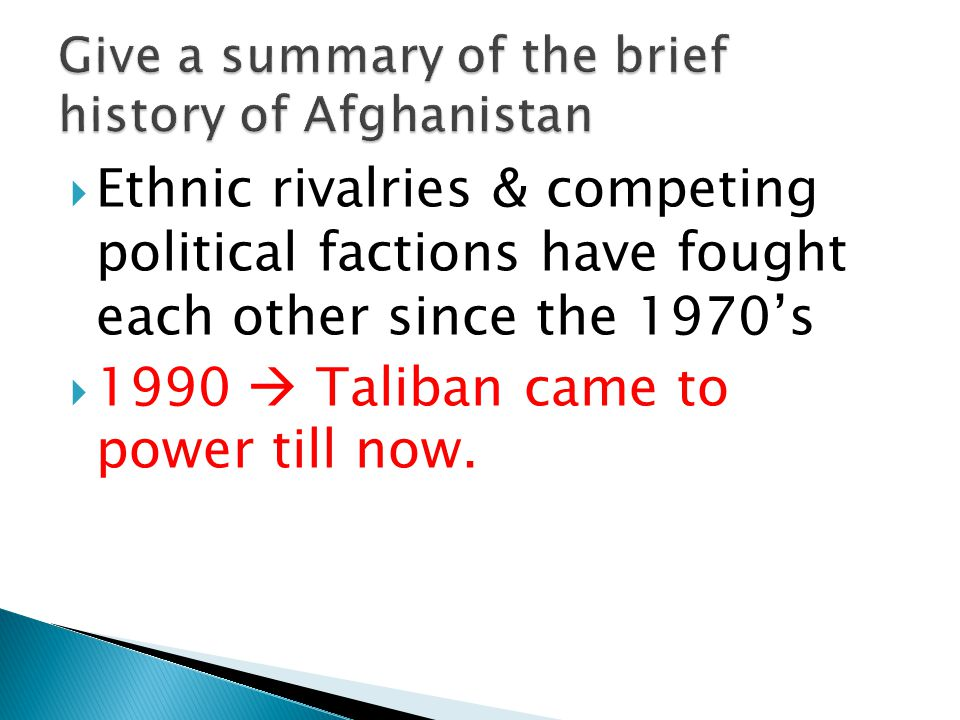 Give a summary of the brief history of Afghanistan