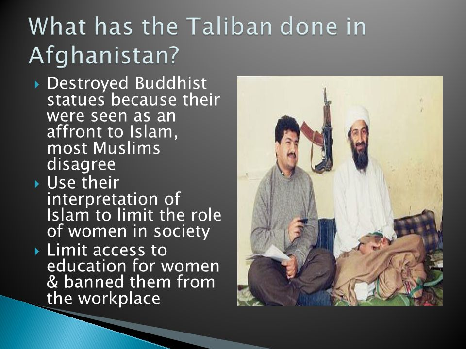 What has the Taliban done in Afghanistan