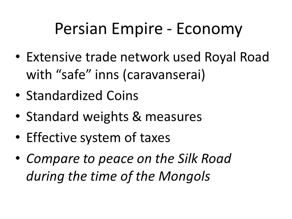 Persian Empire - Economy