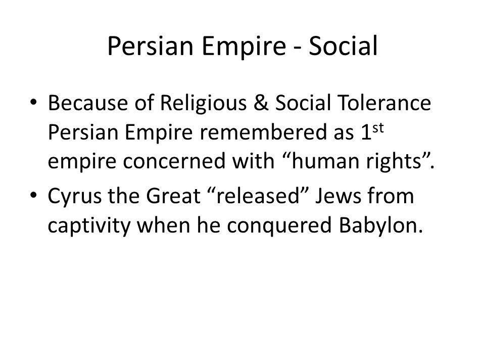Persian Empire - Social