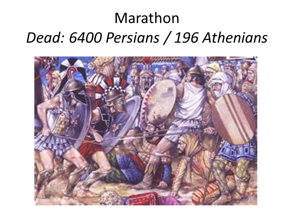 Marathon Dead: 6400 Persians / 196 Athenians