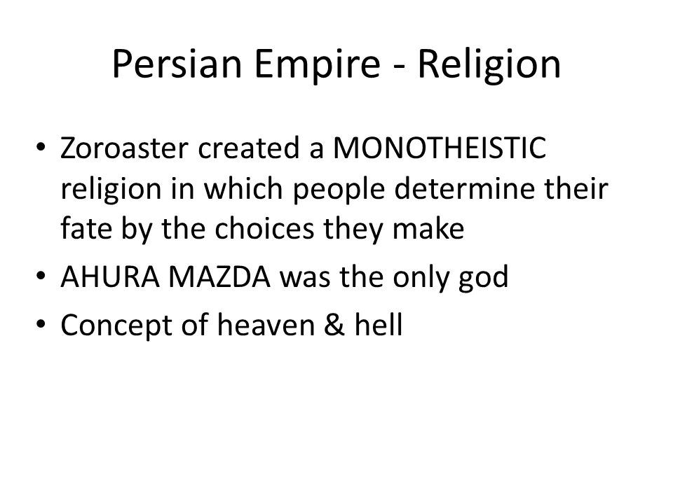 Persian Empire - Religion