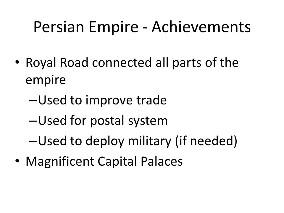 Persian Empire - Achievements