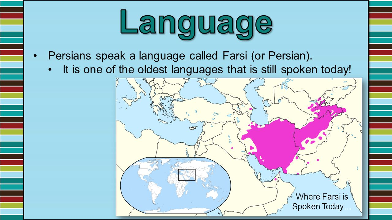 Where Farsi is Spoken Today…